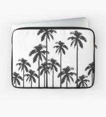 Exotische tropische Schwarzweiss-Palmen Laptoptasche