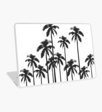 Black and White Exotic Tropical Palm Trees Laptop Skin