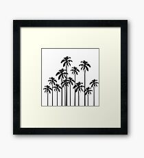Black and White Exotic Tropical Palm Trees Framed Print