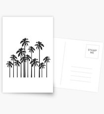 Black and White Exotic Tropical Palm Trees Postcards
