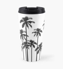 Black and White Exotic Tropical Palm Trees Travel Mug