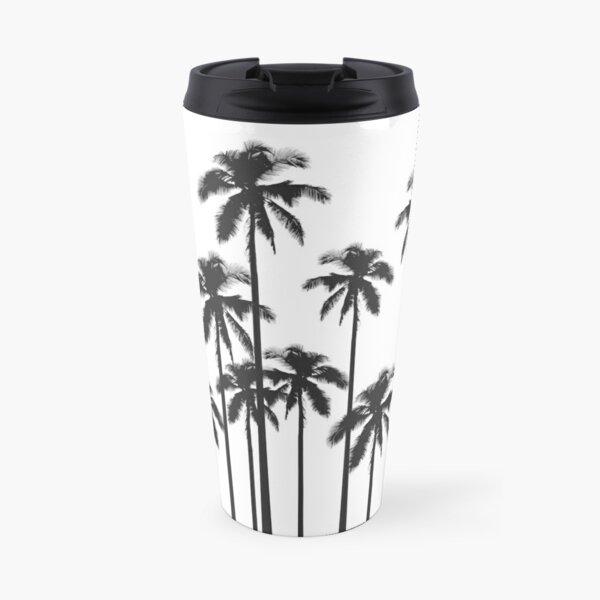 Palmiers tropicaux exotiques en noir et blanc Mug isotherme