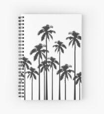 Exotische tropische Schwarzweiss-Palmen Spiralblock