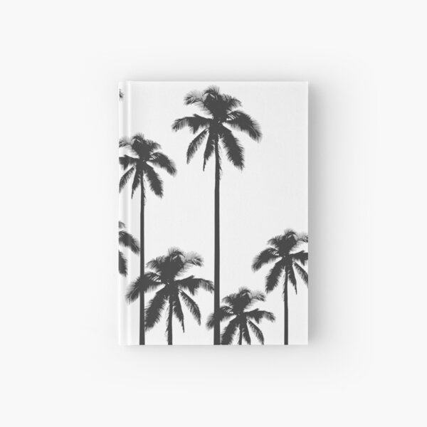 Black and White Exotic Tropical Palm Trees Hardcover Journal