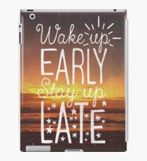 Stay Up Late iPad Case/Skin