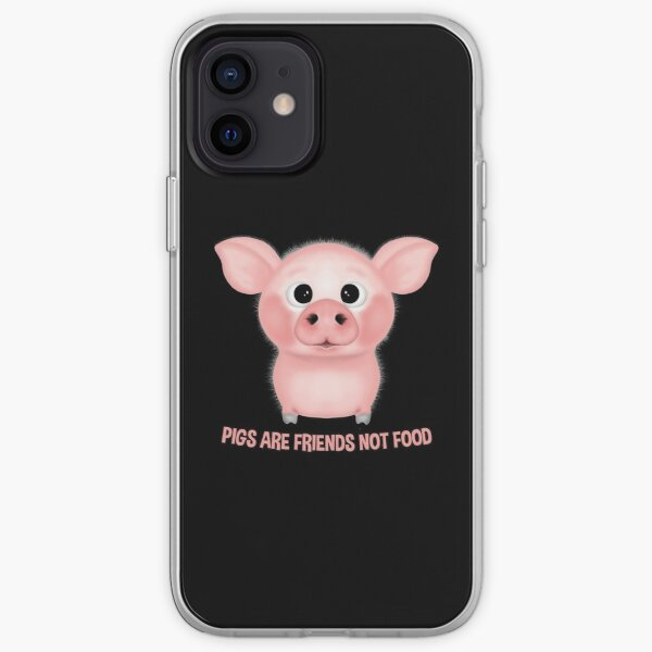PIGS ARE FRIENDS NOT FOOD VEGAN iPhone Soft Case