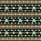 Millefiori Folkloric Stripe by PatriciaSheaArt