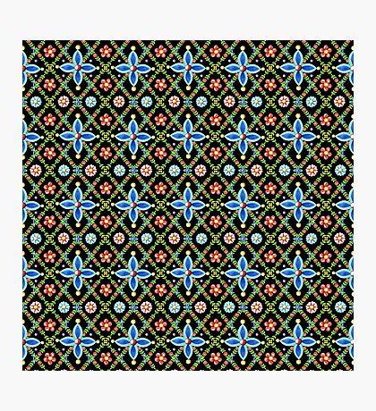 Millefiori Heraldic Lattice Photographic Print