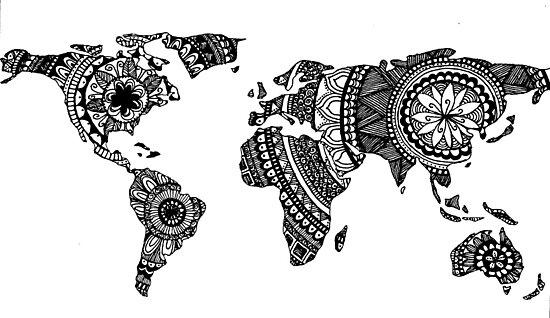 Mandala World Map No 1 Photographic Prints By Brenander Redbubble