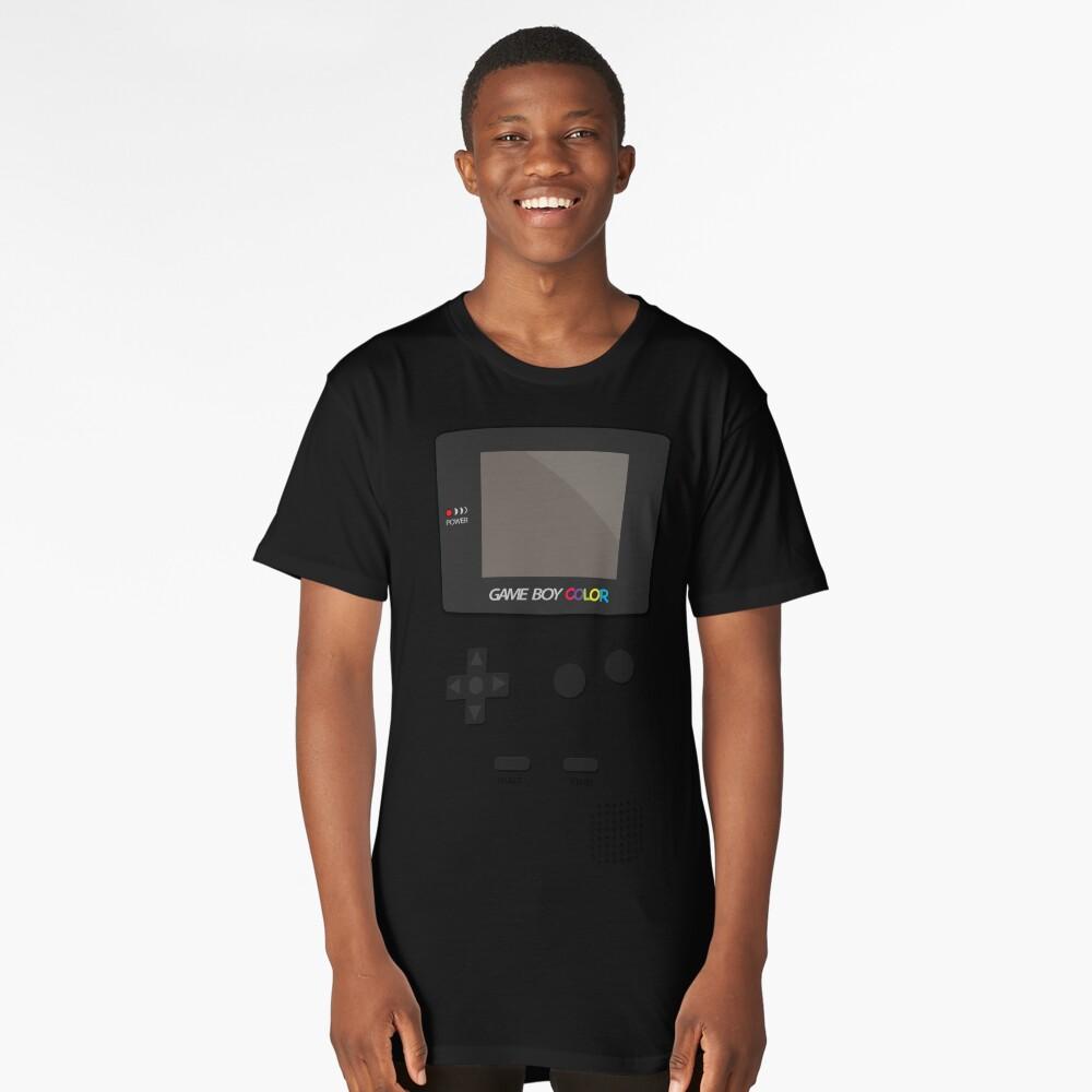 Video Retro Game Boy Console  Long T-Shirt Front