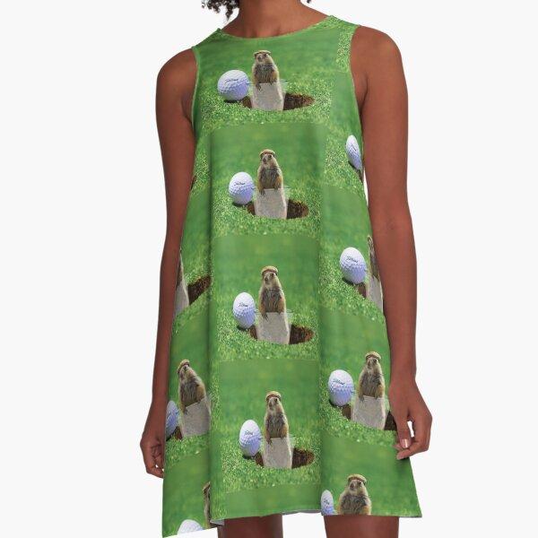 Gopher Golf A-Line Dress