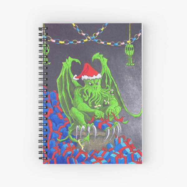 Great Cthulhu Hates Christmas - The Wrap Party Spiral Notebook