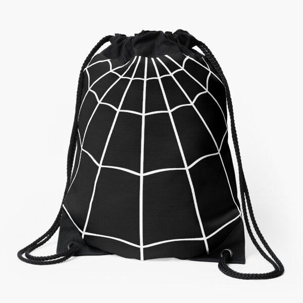 Spider Web - Black Drawstring Bag