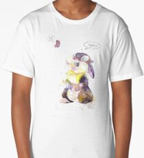 Thumper, Bunny And Butterfly, Watercolor Art Long T-Shirt