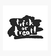 Trick or Treat with Ink Scribble Photographic Print