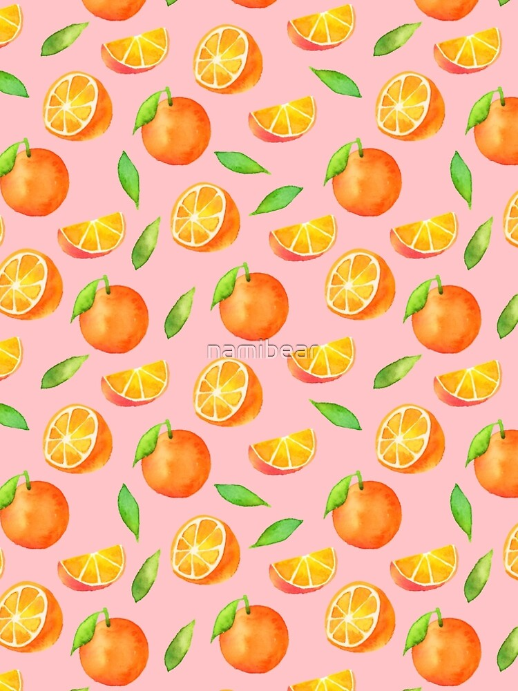 Watercolor Oranges Pattern by namibear