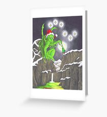 Great Cthulhu Hates Christmas - Showstopper Greeting Card