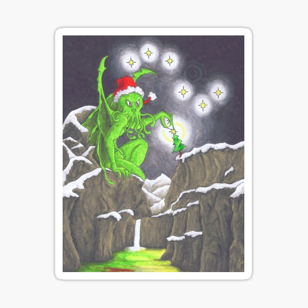 Great Cthulhu Hates Christmas - Showstopper Sticker