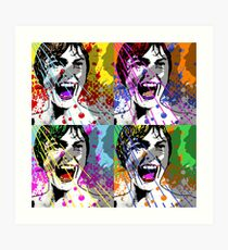 Alfred Hitchcock's Psycho Janet Leigh Pop Art Art Print