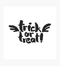 Trick or Treat with Wings Photographic Print