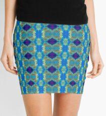 Decorative Blue Mini Skirt