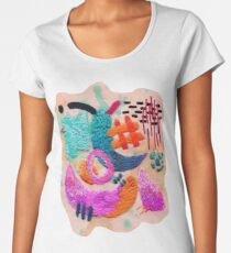 abstract embroidery Women's Premium T-Shirt