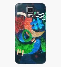 Funda/vinilo para Samsung Galaxy bordado abstracto