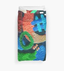 abstract embroidery Duvet Cover