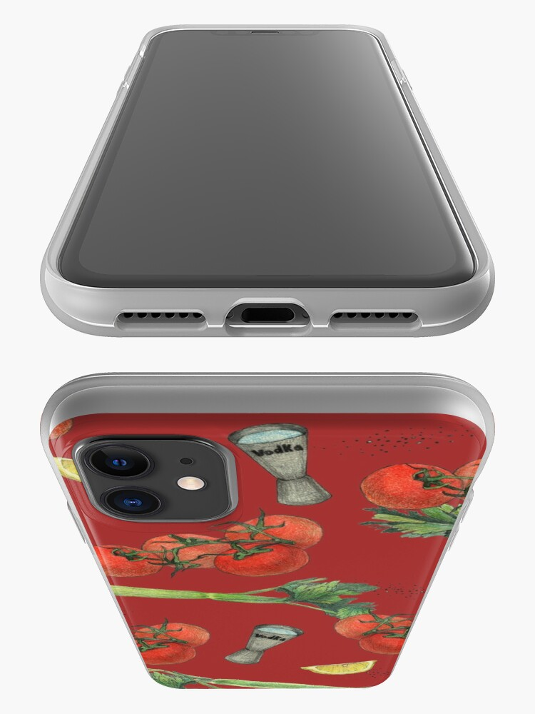 Alternate view of bloody mary recipe iPhone Case & Cover