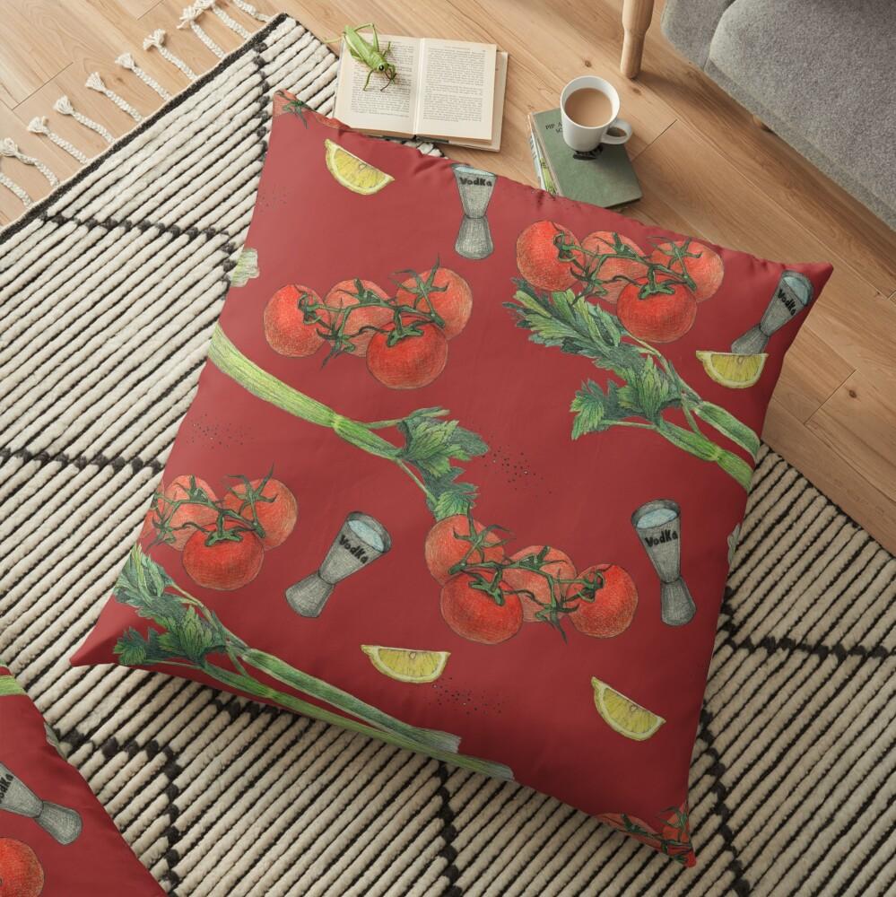 bloody mary recipe Floor Pillow