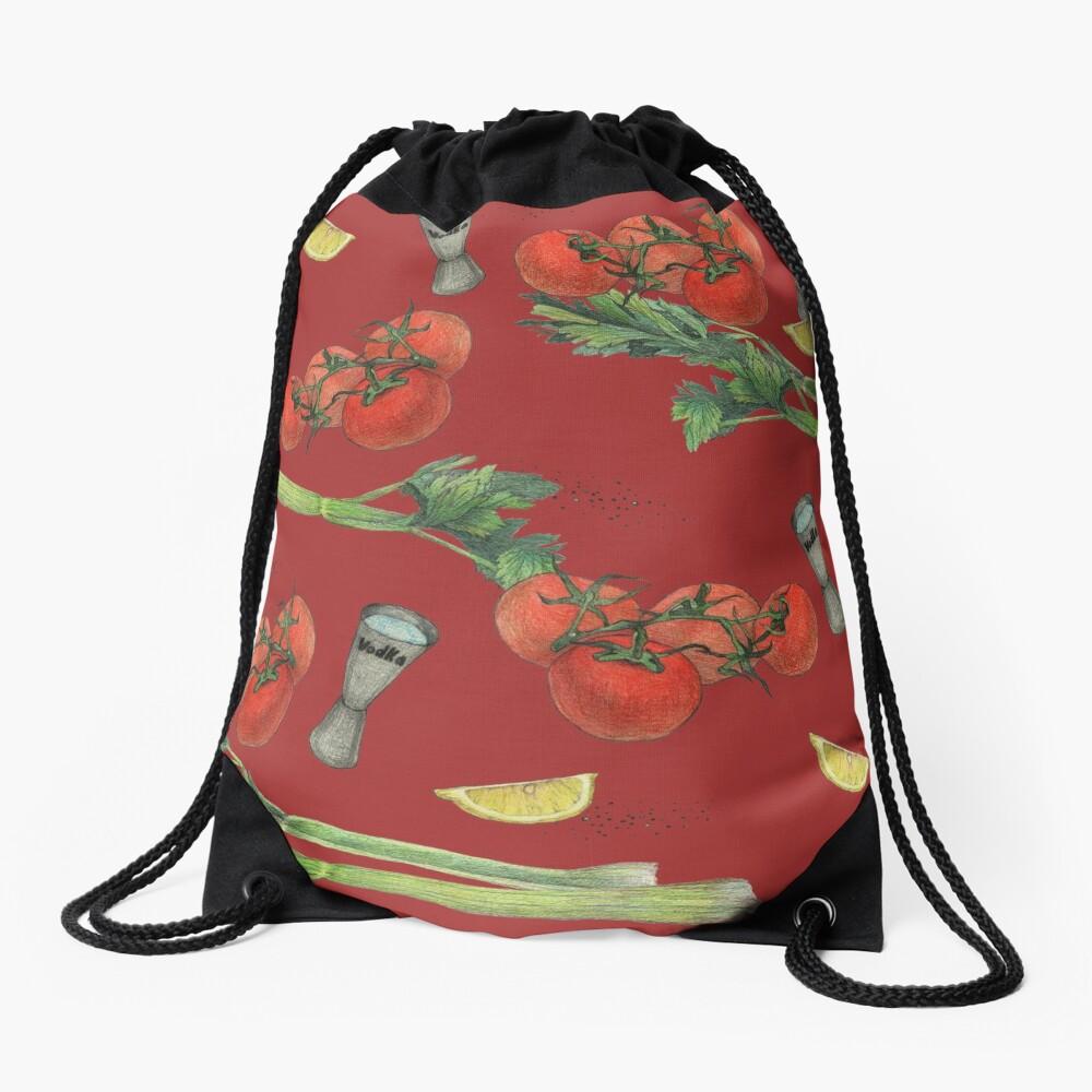 bloody mary recipe Drawstring Bag