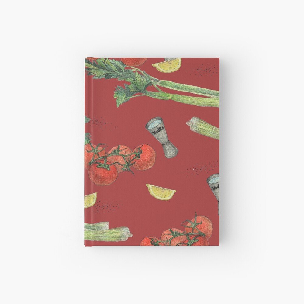 bloody mary recipe Hardcover Journal