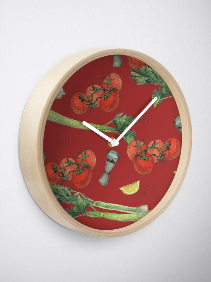 Alternate view of bloody mary recipe Clock