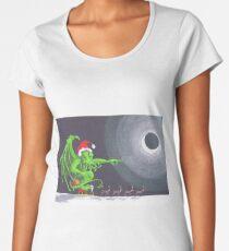 Great Cthulhu Hates Christmas - 'Speeding' thru the Night Women's Premium T-Shirt