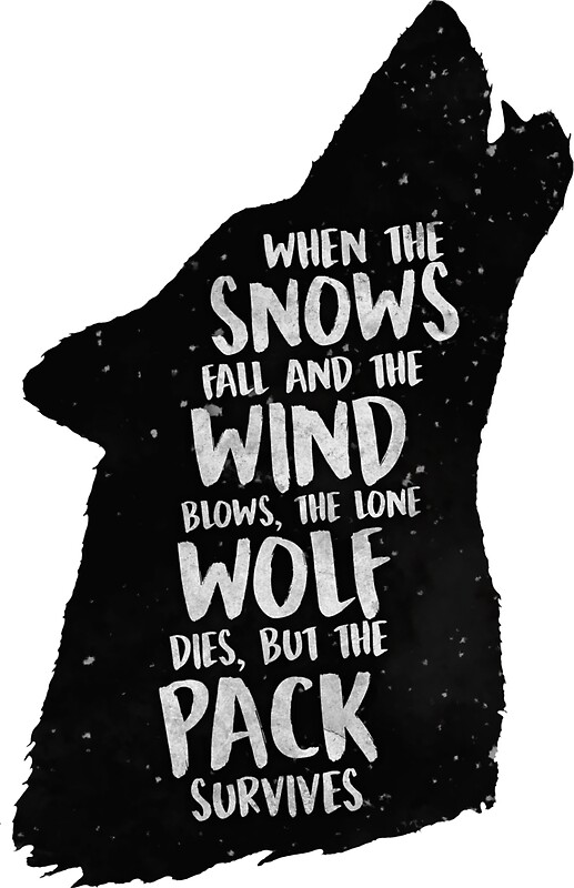 Image result for the lone wolf dies but the pack survives
