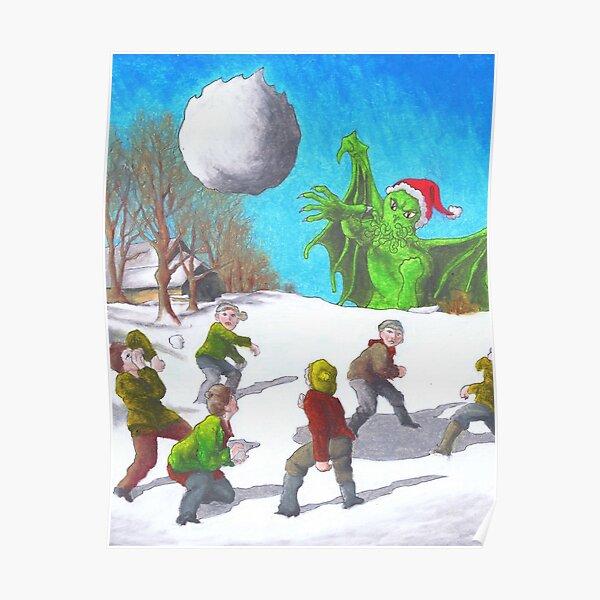 Great Cthulhu Hates Christmas - Bullseye Poster