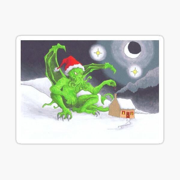 Great Cthulhu Hates Christmas - The Last Delivery Sticker