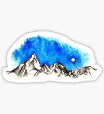 Small Mountains and Sky Sticker