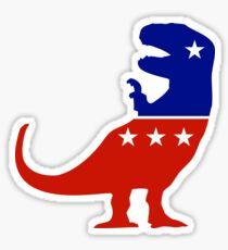 T-Rex Political Logo Sticker