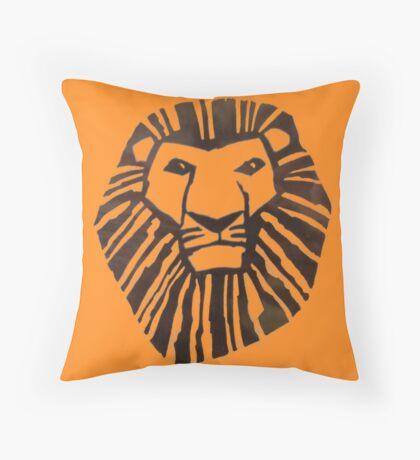 Lion King Logo Throw Pillow
