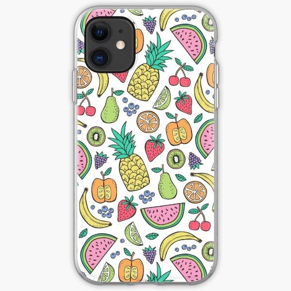 Fruit on White iPhone Soft Case