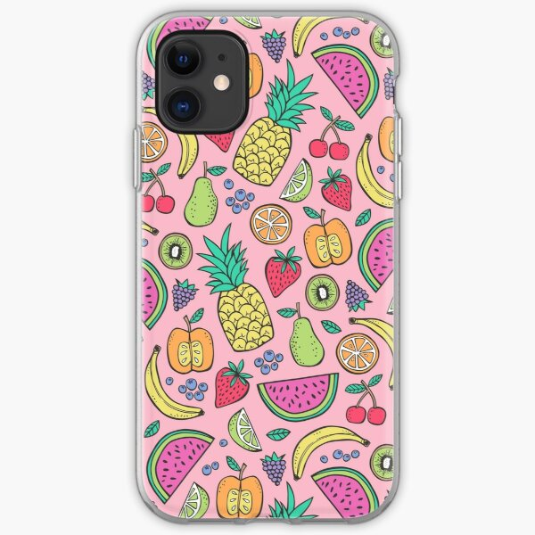 Fruit on Pink iPhone Soft Case