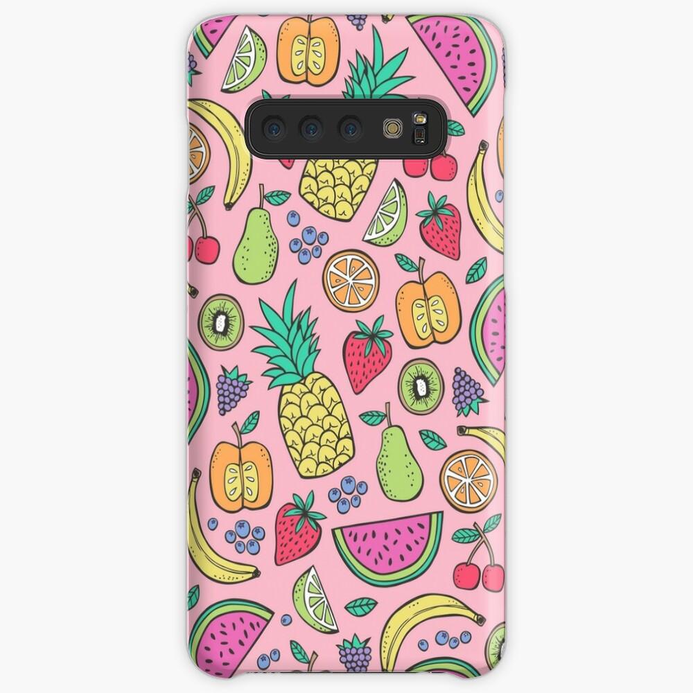 Fruta en rosa Funda y vinilo para Samsung Galaxy