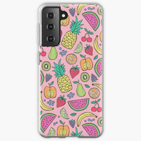 Fruit on Pink Samsung Galaxy Soft Case