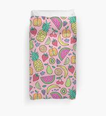 Fruit on Pink Duvet Cover