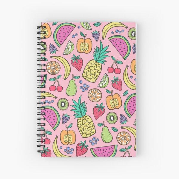 Fruit on Pink Spiral Notebook