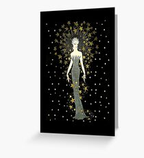 "Art Deco Illustration ""Star Struck"" by Erté Greeting Card"