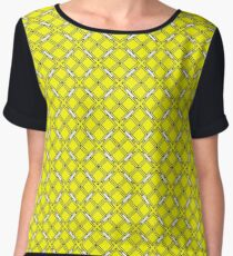 Yellow Clover Chiffon Top