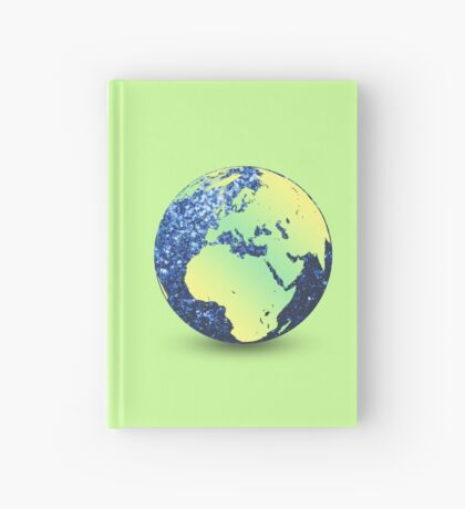Earth Day Blue Sparkles Globe Hardcover Journal