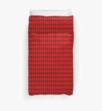 Red and Red Argyle Duvet Cover